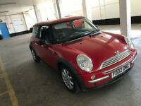MINI COOPER 1.6 PETROL MANUAL 3 DOOR HATCHBACK RED 4 SEAT MOT GOOD DRIVE CHEAP INSURANCE N GOLF ONE