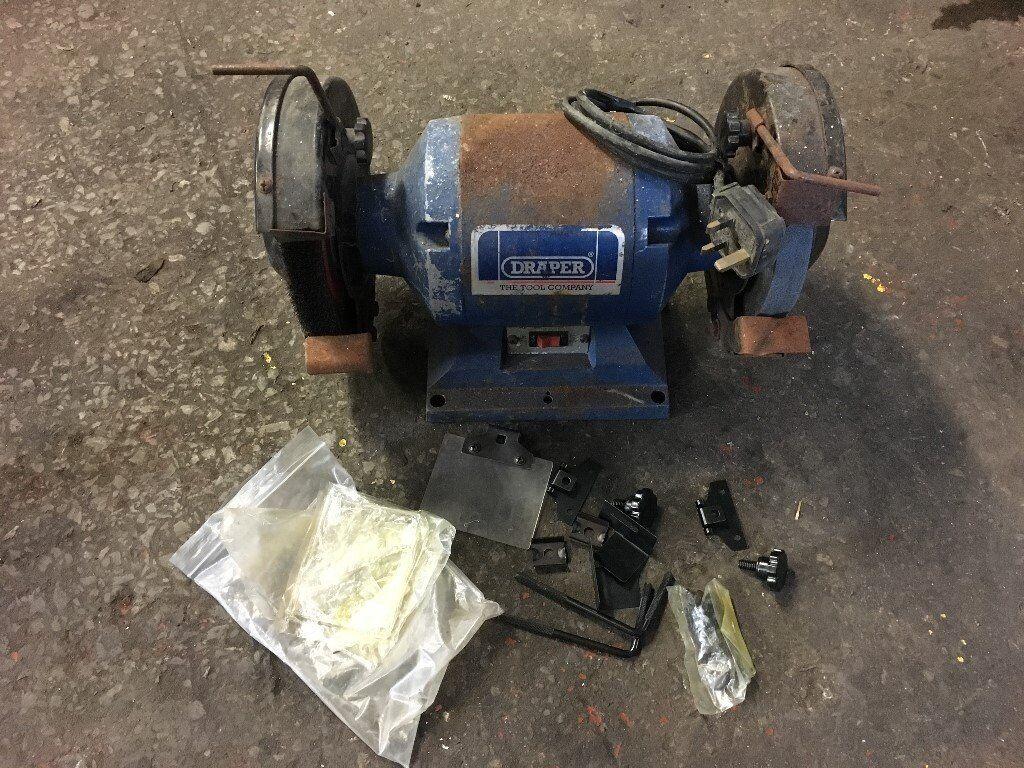 Draper bench grinder / polishing wheel / wire brush 240v