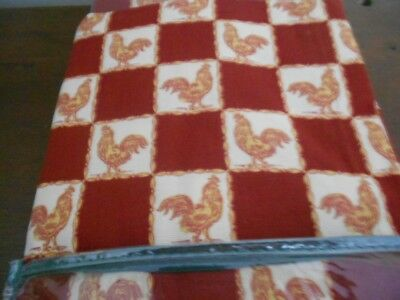 Waverly Coq A Doodle Doo Spice / Red Rooster Kitchen Curtains 4Piece ()