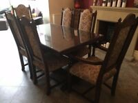Jaycee Solid Oak Dining Table & 6 Chairs