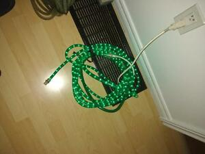 Outdoor indoor rope lights green and color