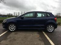 VW Polo SE 1.6 TDI 5 door, metallic blue, alloys, air con, 68,140 miles, hatchback
