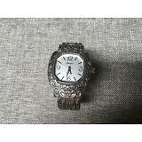 Women's Silver Tone Geneva Quartz Bangle Watch Analog
