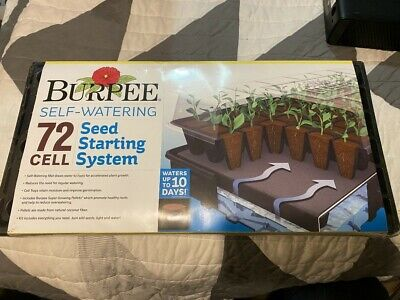 NEW BURPEE GREENHOUSE SELF WATERING 72 CELL SEED STARTING SYSTEM