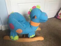 Dinosaur baby rocker