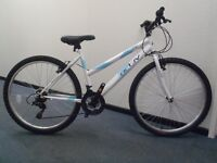 """Raleigh Designed Flyte Ladies Mountain Bike - 17"""" Frame/Alloy Rims/Grip Shifters/18 spd - RRP £150"""