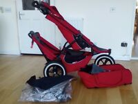 Phil & Teds sport stroller (double) + cocoon + rain cover