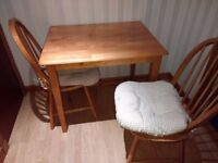 Kitchen / Dining Table + 2 Chairs + Cushions