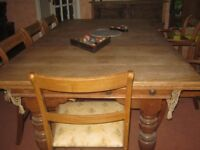 E.J.Riley Accrington Vintage Oak Snooker/Dining Table 2mx1.1m Top in 3 sections