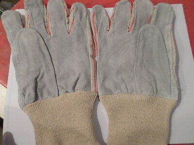 Lot Of 12 Twelve Mens Leather Work Gloves By Wells Lamont - Y3204 - Small