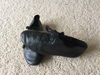 Children's black jazz, disco, modern, dance shoes, size 1