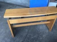 Oak organ bench