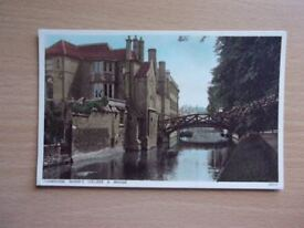QUEENS COLLEGE AND BRIDGE, CAMBRIDGE. PRINTED BY PHOTOCHROM CO. LTD. EXCELLENT CONDITION POSTCARD.