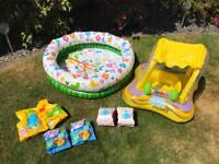 Children's inflatables paddling pool etc