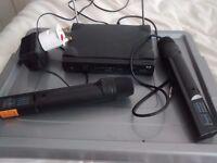 Pair of radio mics with reciever