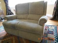 Parker Knoll 2 seater sofa with powered footrests