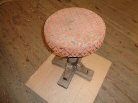 Solid hardwood stool