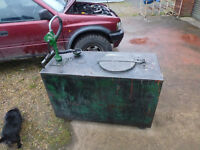 TRUSLOVE & COMPANY WASTE OIL TANK AND PUMP