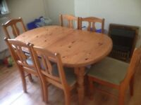 dinning table and 6 chairs £30