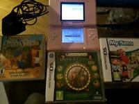 Pink Nintendo DS with 3 Games