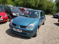 06 PLATE RENAULT CLIO. 1.2 PETROL. PX TO CLEAR