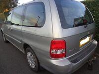 2003 1 owner 7 seater kia sedona diesel + £60 diesel+towbar needs slight attention runs and drives