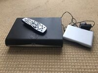 Sky+ HD box with remote and Sky Wi-Fi router