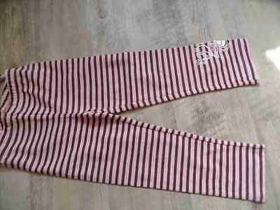 PAMPOLINA schöne gestreifte Leggings rosa braun Gr. 98 w. NEU ST817