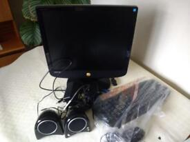 Monitor , keyboard, speakers and mouse