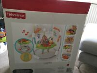 Nearly new fisher price baby bouncer. Perfect condition are £75 brand new.