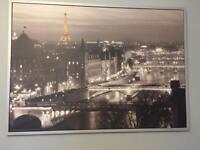 Large IKEA Paris Canvas Wall Art Picture