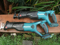 Professional Makita DJR181 or DJR182 18v SawZall Reciprosaw! Mint! DESTROYERS! Extras available!
