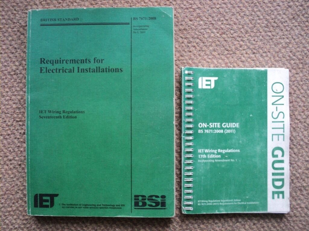 17th Edition Wiring Regulations Book 2017 Solutions Iee Regs Iet Bs 7671 2008 On Site Guide