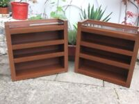 Pair of Glass topped units - Bedroom/Living Room Vgc