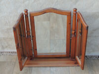 Triple wooden dressing mirror (Delivery)
