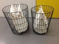 TWO Laundry Basket Set including sacks / contemporary style