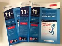 11+ Grammar School/Pretest Vocabulary Multiple Choice Books