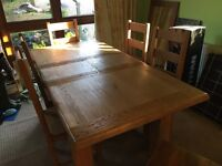 Solid wood chunky dining table