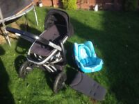Quinny pushchair and car seat with add for baby 0+