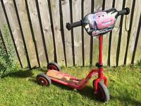 Cars 3 wheel scooter