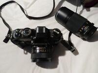Original Konica Working Film Camera + Lens & Case