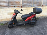 Kymco Agility 50 with top box an excellent scooter for getting you about