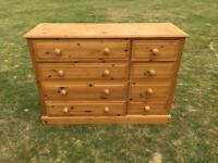 Pine Chest of 8 Drawers - USED