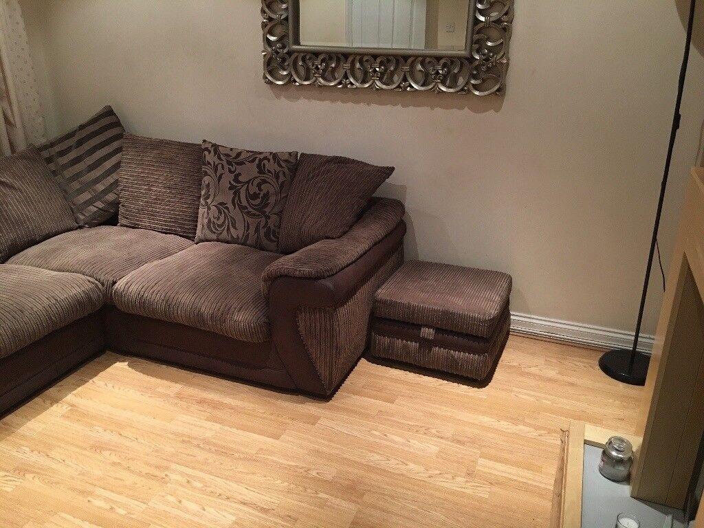 L shaped left handed corner sofa