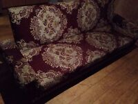 Modern 3 Seater Floral Patterned Living Room Sofa Bed - Fully Functional/Undamaged & Good Condition