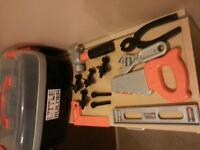 Little Builder tub of tools and bolts