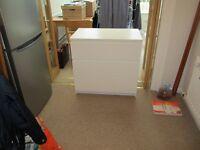 Storage chest - three drawer in white.