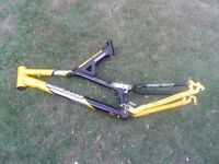 mongoose bike frame yellow wing 6061 alloy