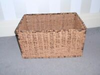 Brown Rattan Weaved Basket