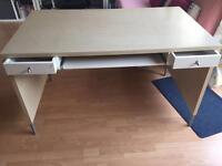 Desk with socket